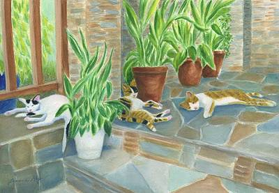 Painting - Cat Nap Time  by Jeanne Kay Juhos