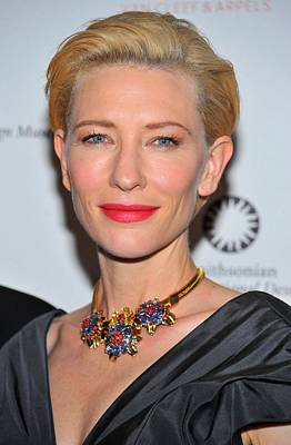 Statement Necklace Photograph - Cate Blanchett Wearing A Van Cleef & by Everett