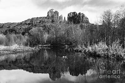 Cathedral Rock Photograph - Cathedral Rock Reflections Landscape by Darcy Michaelchuk
