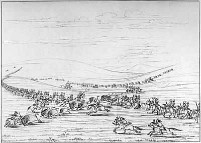 Catlin: Buffalo Hunt Art Print by Granger