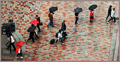 Caught In The Rain Art Print by Barry Hayton