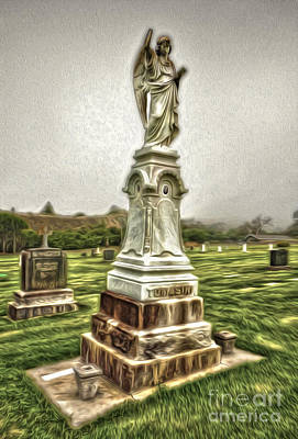 Painting - Cayucos Cemetery - 01 by Gregory Dyer