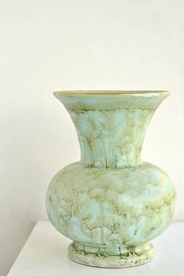 Photograph - Celadon Green Vase by Carol Vanselow