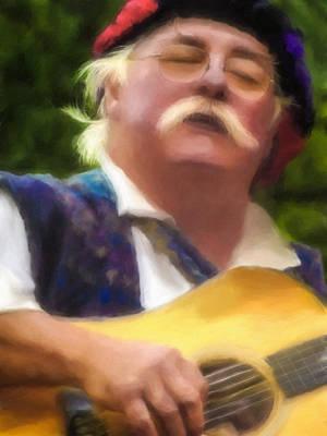 Celtic Folk Singer Art Print by Jill Balsam