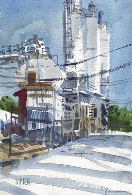 Plein Air Painting - Cement Hopper by Donald Maier