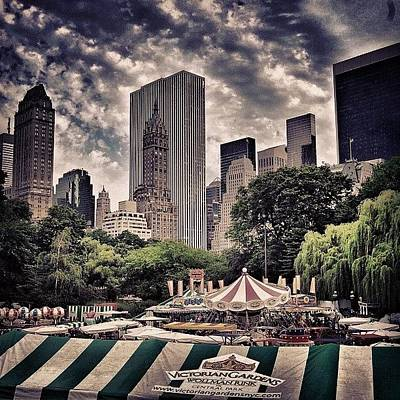Skyscrapers Photograph - Central Park - New York by Joel Lopez
