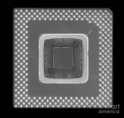 Mother Board Photograph - Central Processor by Ted Kinsman