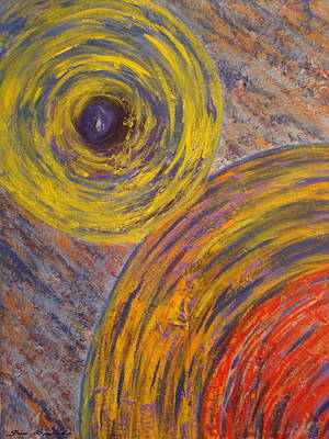 Painting - Centrifugal Whirls by Jen Sparks