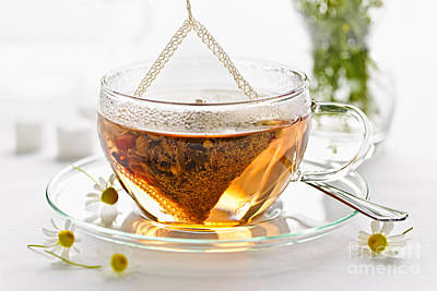 Relief Photograph - Chamomile Tea by Elena Elisseeva