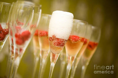 Pouring Wine Photograph - Champagne by Kati Molin