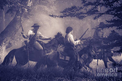 Musket Mixed Media - Charging Through by Kim Henderson
