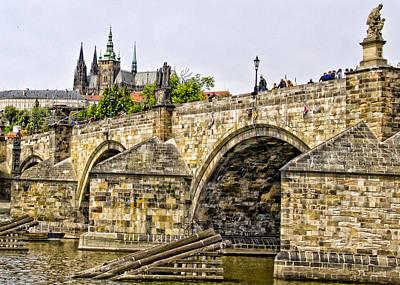 Charles Bridge And Prague Castle Art Print by Jon Berghoff