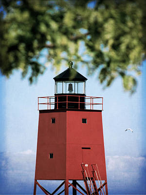Charlevoix South Pier Lighthouse Art Print by Christy Woods