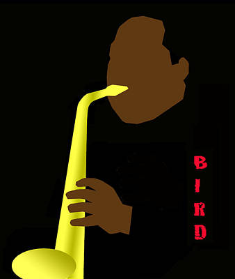 Bebop Digital Art - Charlie Parker by Victor Bailey