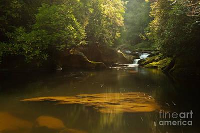 Chattooga River At Dawn Art Print