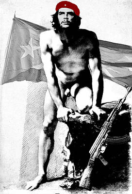 Digital Art - Che Guevara Nude by Karine Percheron-Daniels