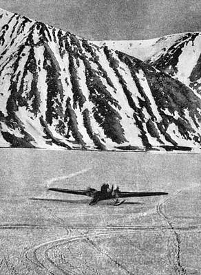 Arctic Air Photograph - Chelyuskin Search And Rescue, 1934 by Ria Novosti