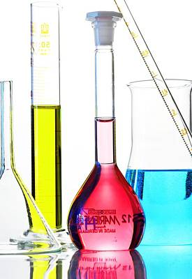 Chemistry Glass-ware Art Print by Gombert, Sigrid
