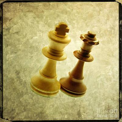 Chess Pieces Art Print by Bernard Jaubert