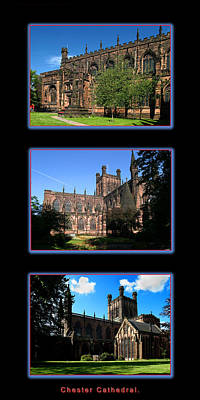 Chester Photograph - Chester Cathedral Trio by Stephen Douglas