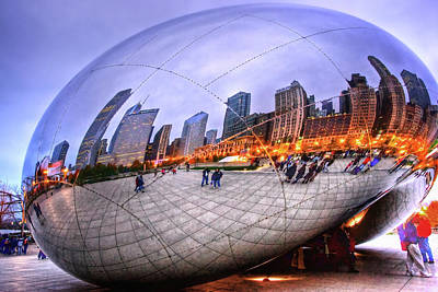 Chicago Bean Art Print by Mark Currier