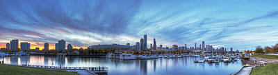 Soldier Field Wall Art - Photograph - Chicago From Burnham Harbor by Twenty Two North Photography