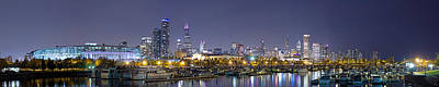 Soldier Field Wall Art - Photograph - Chicago Skyline From Burnham Harbor by Twenty Two North Photography