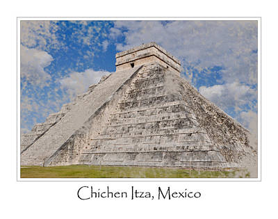 Chichen Itza Modern Seven Wonders Of The World In Mexico Art Print