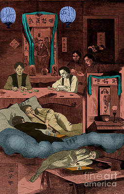 Winslow Homer Photograph - Chinatown Opium Den by Photo Researchers