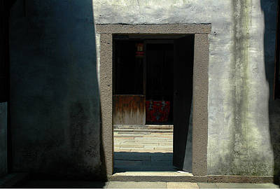 Photograph - Chinese Doorway by Harry Spitz