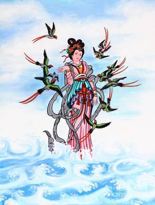 Thai Artist Artists Painting - Chinese Painting  by Phalakon Jaisangat