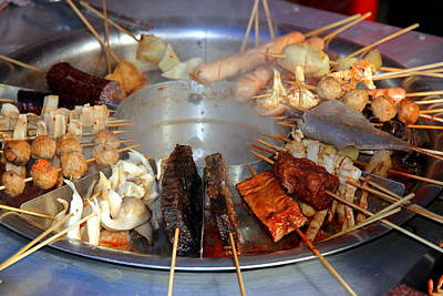 Grilled Fish Photograph - Chinese Traditional Dtreet Food by Valentino Visentini