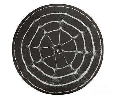 Chladni Oscillations On Metal Plate Print by Ted Kinsman