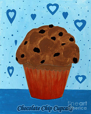 Chocolate Chip Cupcake Art Print by Barbara Griffin