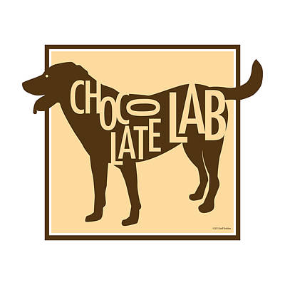 Labrador Digital Art - Chocolate Lab by Geoff Strehlow