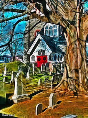 Sermon Digital Art - Christ Church Of St Michaels by Stephen Younts