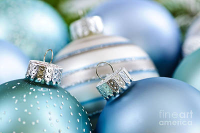 Christmas Ornaments Art Print by Elena Elisseeva