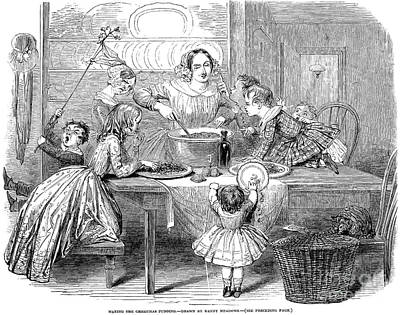 Christmas Pudding, 1848 Print by Granger