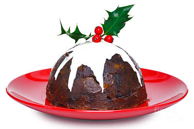 Christmas Pudding  Art Print by Richard Thomas
