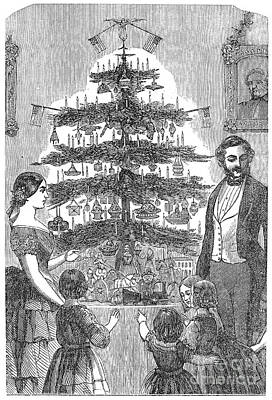 Christmas Tree, 1864 Art Print by Granger