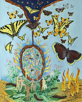 Painting - Chrysalis For Humanity by Shoshanah Dubiner