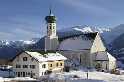 Church In Winter Art Print by Matthias Hauser