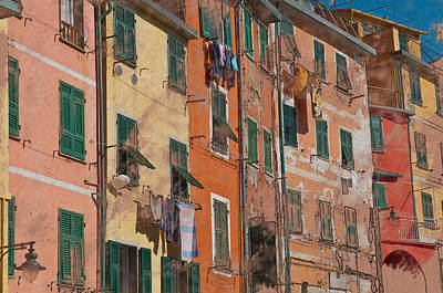 Cinque Terre Colorful Homes Art Print by Brandon Bourdages