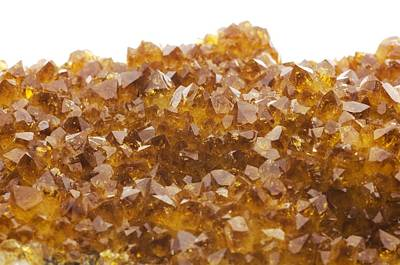 Citrine Photograph - Citrine Crystals by Lawrence Lawry