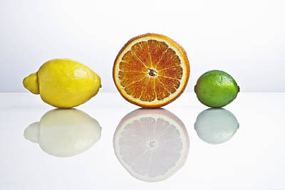 Sour Photograph - Citrus Fruits by Joana Kruse