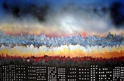 Painting - City Never Sleeps by Robert Handler