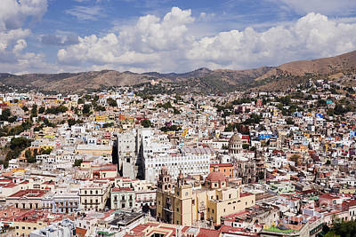 City Of Guanajuato From The Pipila Overlook At Dusk Art Print by Jeremy Woodhouse
