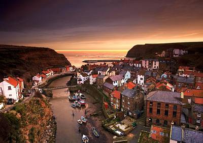 Kim Fearheiley Photography - Cityscape At Sunset, Staithes by John Short