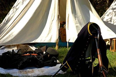 March Photograph - Civil War Camp by LeeAnn McLaneGoetz McLaneGoetzStudioLLCcom