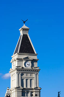 Photograph - Clarksville Historic Courthouse Tower by Ed Gleichman